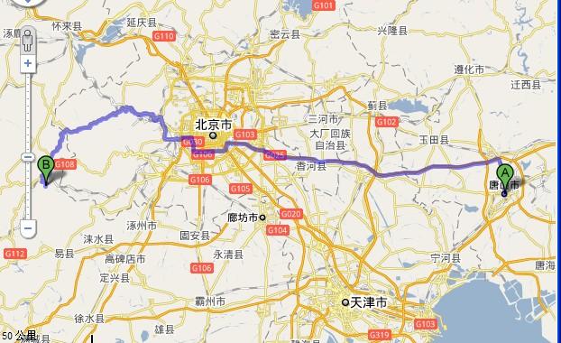 唐山到野三坡旅游路线(自驾游)